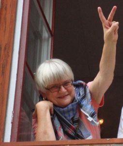 Mireille tar farväl till Riksteatern som var hennes arbetsplats genom alla år.