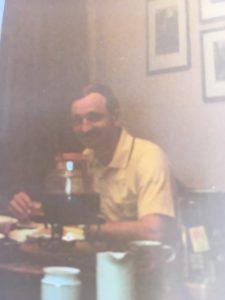 Undermålig kvalitet men detta är troligen en av de sista bilderna som togs på Jim. Juli 1978. En månad senare fanns han inte längre.