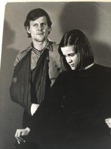 Dick med fru Susanne. Henne träffade han redan 1972.
