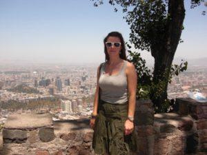 I bakgrunden Santiago som Lisa visade mig på ett mycket initierat sätt under två dagar.