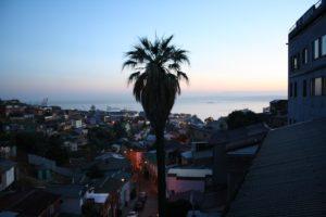 Utsikt från en balkong. Den här bilden tog Lisa sista kvällen i lägenheten.